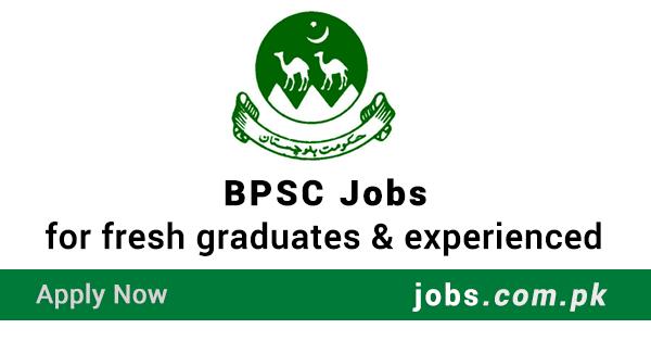 BPSC Jobs 2019 | Latest Jobs in BPSC - Apply Online (Balochistan)