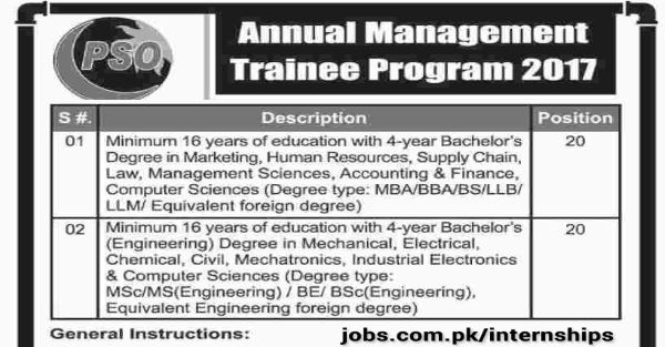 Pso Management Trainee Program 2017 2018 For Fresh Graduates In