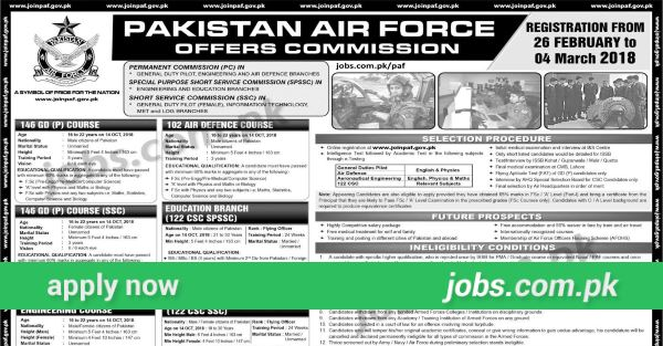 join paf - paf jobs 2019
