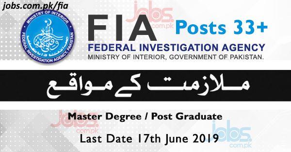FIA Jobs 2019 for 33+ Graduates / Assistant Directors - FPSC